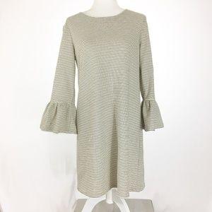 J Crew Factory Ruffle Sleeve Dress Size M